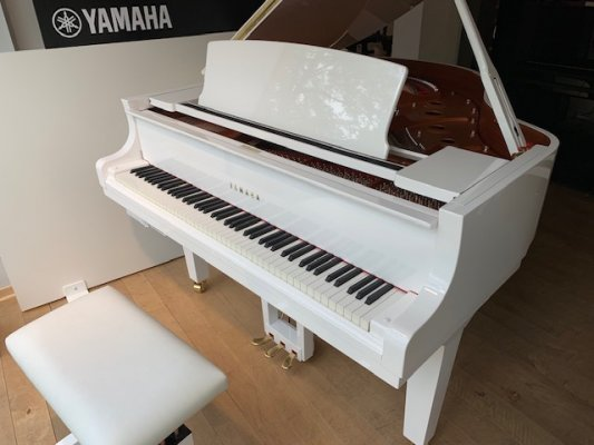 YAMAHA Flügel C1X TA PWH TransAcoustic mit SH SILENT in weiss poliert
