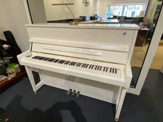 SCHIMMEL Klavier Fridolin F116 Tradition weiss poliert
